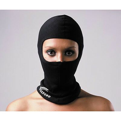 Oxford Black Thermal Bike Motorcycle Neck Warmer Helmet Cotton Balaclava New