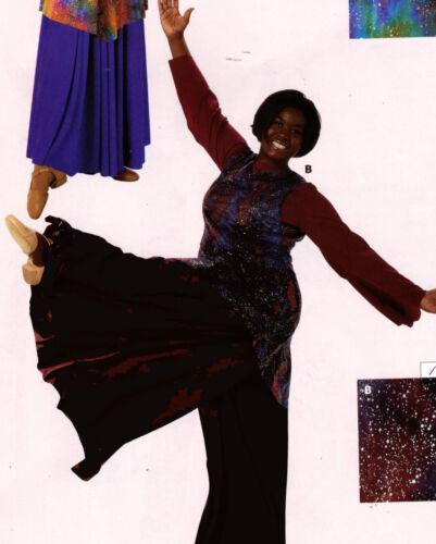 NWT PRAISE LITURGICAL DANCE Palazzo Pants BLACK Ch//Ladies Sizes Praisewear
