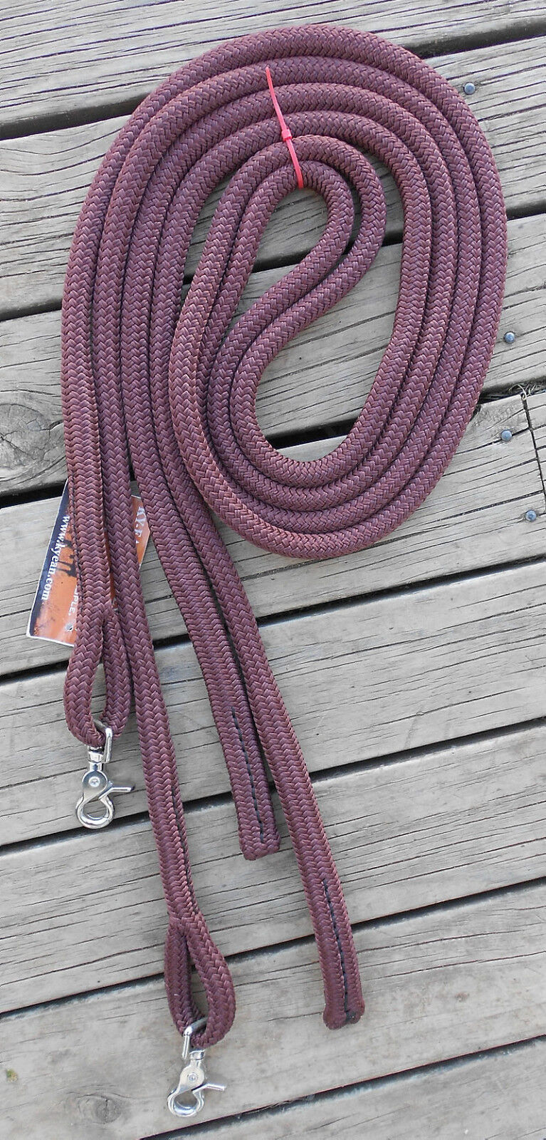 6FT SPLIT REINS with CLIPS -Professionally Made- 17 colours available