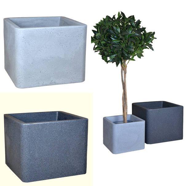 Pflanzkübel Cube PE 30x30cm Schw.-granit 1003721 | eBay