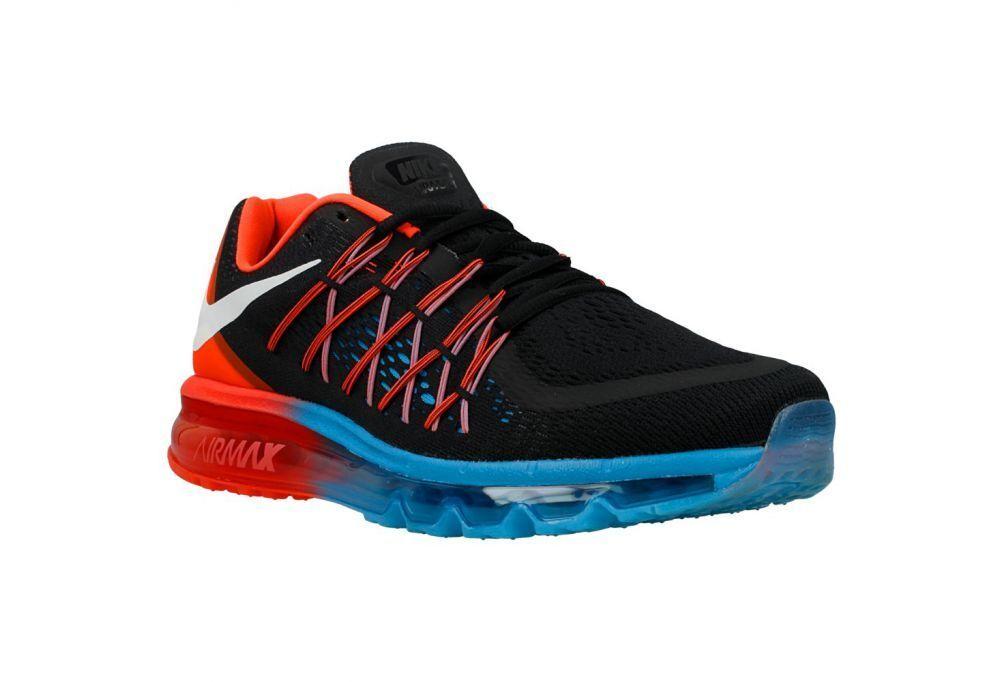 Brand New Mens Nike Air Max 2015 698902-006 Black/Bright Crimson Sizes 9