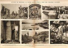 Artillery Artillerie Deutsches Heer Ruines Eglise Nieuport Belgique War 1917 WWI