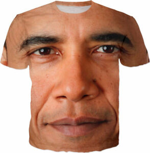 Women-Men-Casual-TShirt-3D-Print-Funny-Obama-Pattern-Summer-Short-Sleeve-Tee-Top