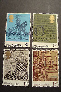 GB-1976-Commemorative-Stamps-Caxton-Fine-Used-Set-ex-fdc-UK-Seller