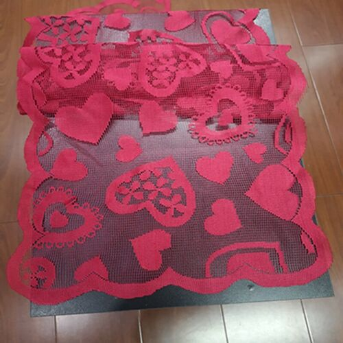 Lace Love Table Runner Dining Table Cover Decor Valentine/'s Day Tablecloth GG