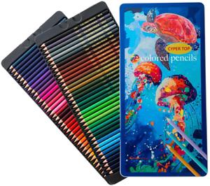 72 Professional Premier Colored Pencils Platinum Soft Core Artist Paint Tin NEW