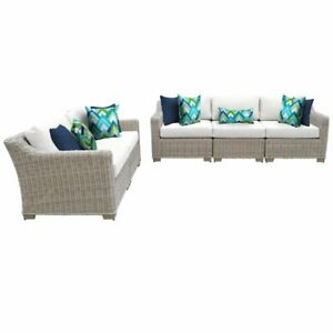 Remarkable Details About Coast 5 Piece Outdoor Wicker Patio Furniture Set In Sail White Beatyapartments Chair Design Images Beatyapartmentscom