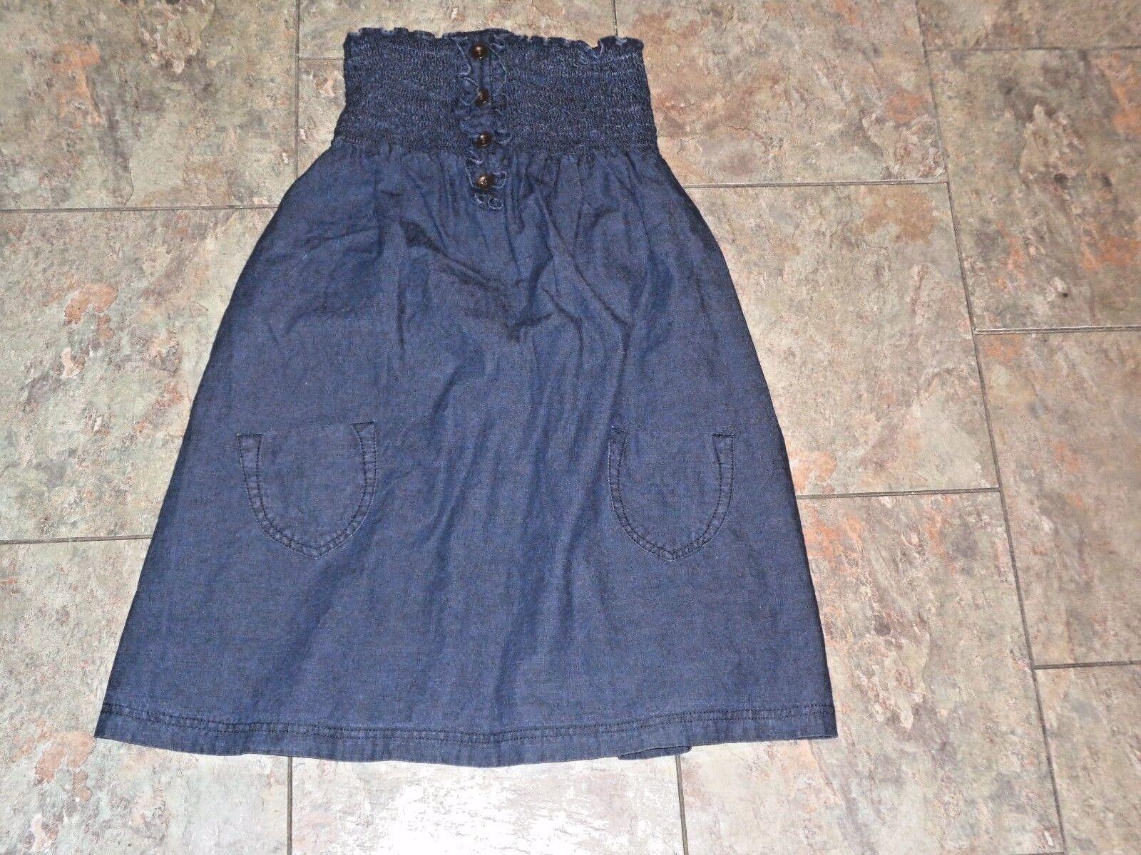 womens mossimo strapless dark wash denim jeans dr… - image 1