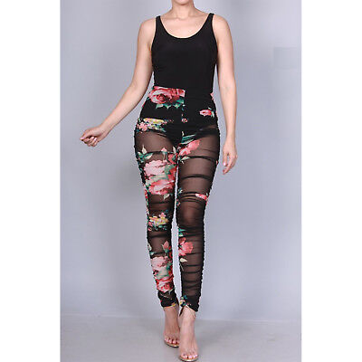 Fashion Women Letter Printed Draped Pleated Bodycon Clubwear Long Pants Trousers