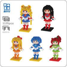 HC 9037 Anime Sailor Moon Tsukino Usagi Diamond Mini DIY Building Nano Block Toy