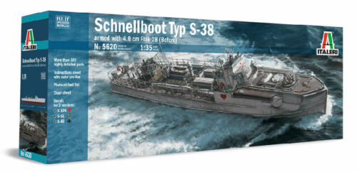 Schnellboot Typ S-38 armed with 4.0 Cm Flak 28 Bofors Plastic Kit 1:35 Model