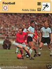 FICHE CARD : Nobby Stiles ENGLAND ANGLETERRE FOOTBALL 70s