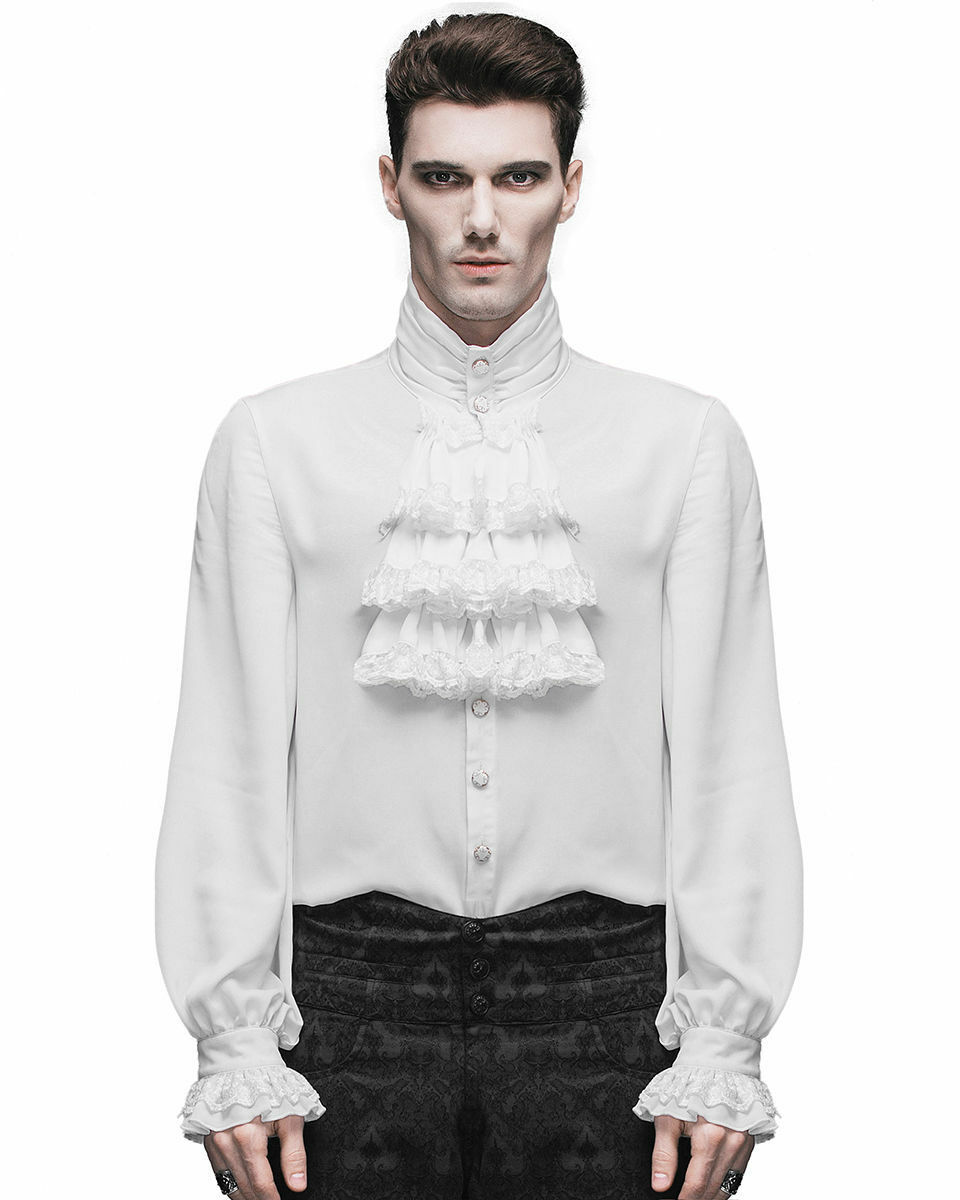 Devil Fashion Men Shirt Gothic Cosplay Steampunk Victorian Regency Aristocrat