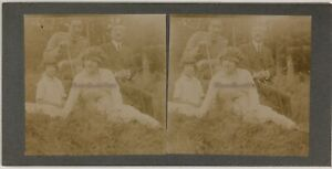 Foto-Stereo-Amateur-Famille-Th2n21-Vintage-Citrato-c1900