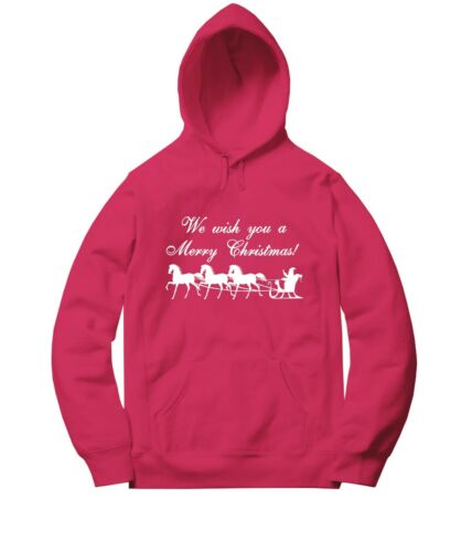 We Wish You A Merry Christmas Men Women Unisex Sweater Jacket Pullover Hoodie