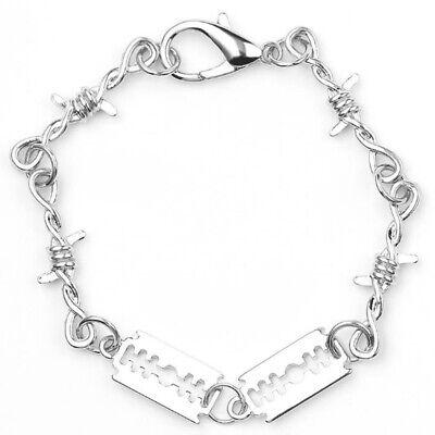 Women Men Thorns Razor Blade Bracelet