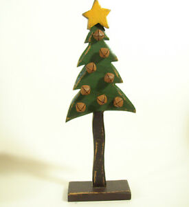 Tall Skinny Christmas Tree.Details About Distressed Wood Christmas Tree Rusty Bells Hand Crafted Tall Skinny Old Vintage