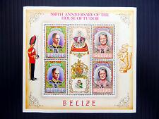 BELIZE Wholesale 1984 House of Tudor G.VI & Queen Mother Sheetlet x 10 FP2580