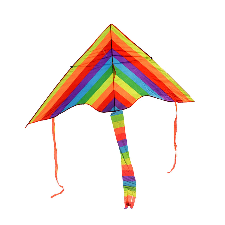 50M Enorme Corde Prairie Rainbow Kite Cerf-volant s'amusent plage Prairie Corde 392336