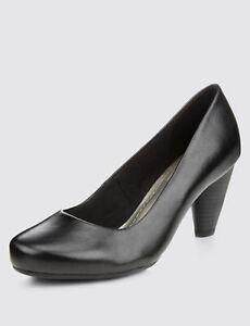 M\u0026S New Women Ladies Low Heel Court