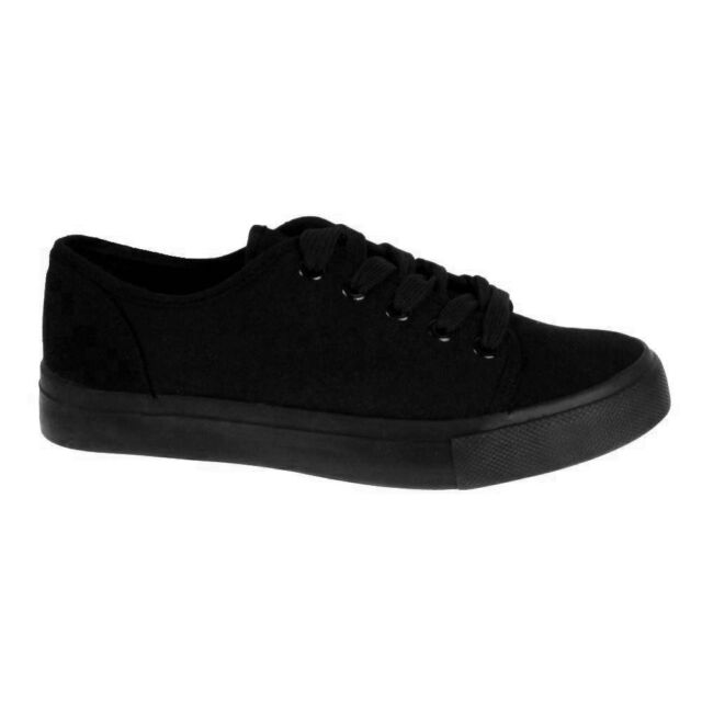 BRANDED LADIES WOMEN GIRLS DUNLOP CANVAS PE SPORTS GYM CASUAL SCHOOL  SHOES SIZE