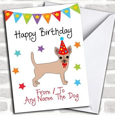 To From Dog Chihuahua Personalized Birthday Card