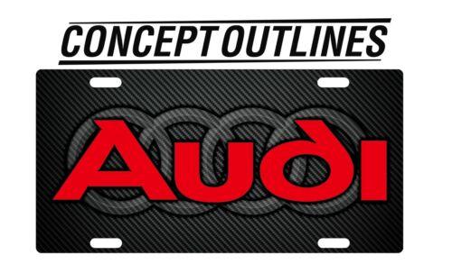 Audi Premium Aluminium License Plate Tag Custom For Car or Room TAWL#2