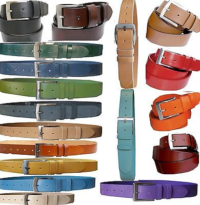 NEW Very Strong 4cm Full RAWHIDE LEATHER Leather Belt Wide