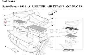 Fits Ferrari 360 2000-2005 3.6L K/&N Performance High Flow Replacement Air Filter