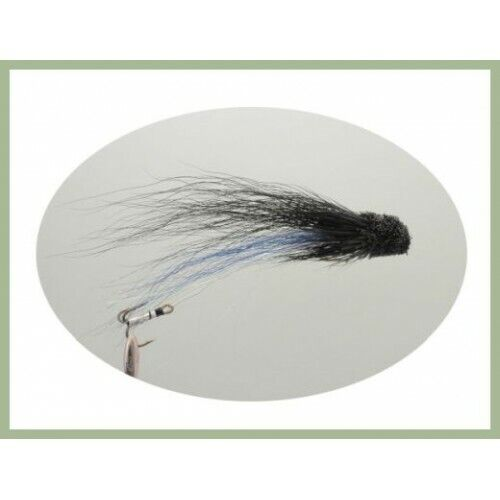 Treble Hook Sea Trout or Salmon Fly Rear Size 10 4 Blue Jambo Muddlers Snakes