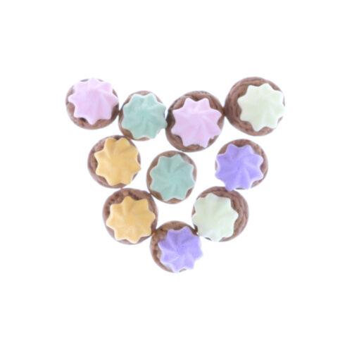 9Pcs//bag 1:12 Dollhouse Miniature Biscuits Mini Desserts Dollhouse AccessoriesS*