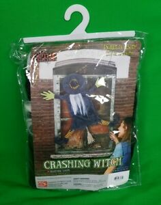 Nice Sunstar Gifts Crashing Witch Halloween Door Decoration Party Classroom Ebay