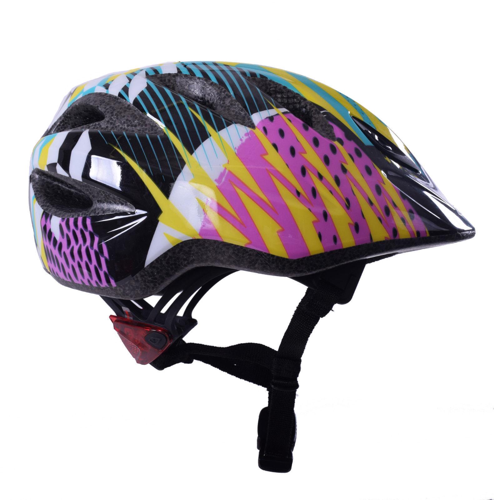 GIRO Rascal Shards Bambino Kids Ciclo bicicletta casco Luci LED LED LED integrata 50 - 54cm e68869