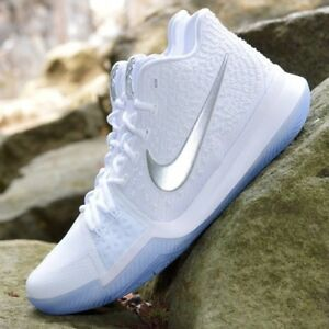 quality design f9c81 699c7 Image is loading Basketball-Shoes-Nike-KYRIE-3-Chrome-White-Time-