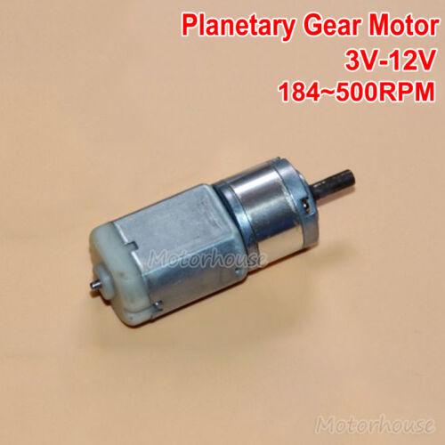 DC 3V~12V 6V 248RPM Micro Planetary Gear Motor Gearbox Reducer Getriebemotoren