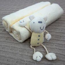 Lollipop Lane Luxury in pile Baby Coperta & Teddy Bear carrozzina culla in vimini