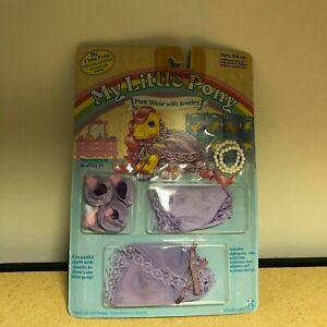 Hasbro MY LITTLE PONY WEAR with JEWELRY SWEETNESS and LACE G1 MLP Outfit MOC`85!