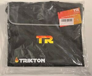 with TSA-Lock Fireproof Document Bag XL Silver Visible in The Dark Trikton