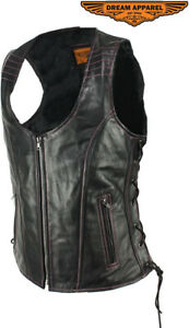 Premium Perforated Leather Motorcycle Vest | Motorcycle