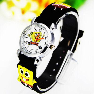 Hot ! New Spongebob Squarepants Children Boy Girl Wrist Watch Christmas Gift CT3