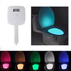 LED 8 Color Night Light Body Motion Sensor Automatic Toilet Seat Bowl Bathroom '