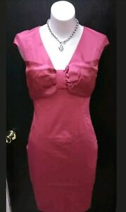 ac6cc504847ed Image is loading Ted-Baker-London-Pink-Front-Bow-Dress-Size-