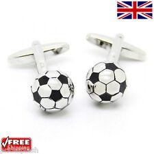 Cool Para Hombre Para Mujer Vestido Pelota De Fútbol Soccer Gemelos Novedad Diseño cuff-link