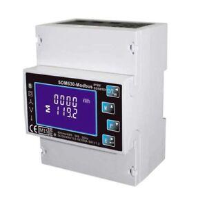 SDM630-Modbus-RS485-Din-Rail-KWH-Medidor-de-Energia-Trifasico-100A-Solar-PV-RTU