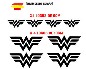 Vinilo-de-corte-pegatinas-X8-logo-WONDER-WOMAN-superheroes-sticker-decal-MARVEL