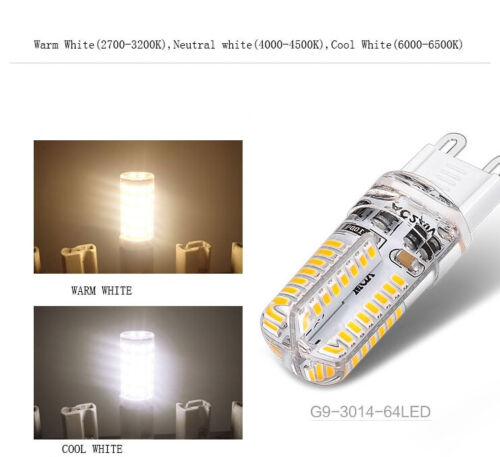 Dimmable LED G9 Corn Bulb Cool White 64LEDs 220V 3W 3014SMD