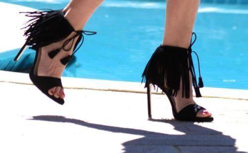 Zara Flecos Negra Sandalias Tacón Alto Talla Talla Talla UK3 EUR36 US6  bajo precio del 40%