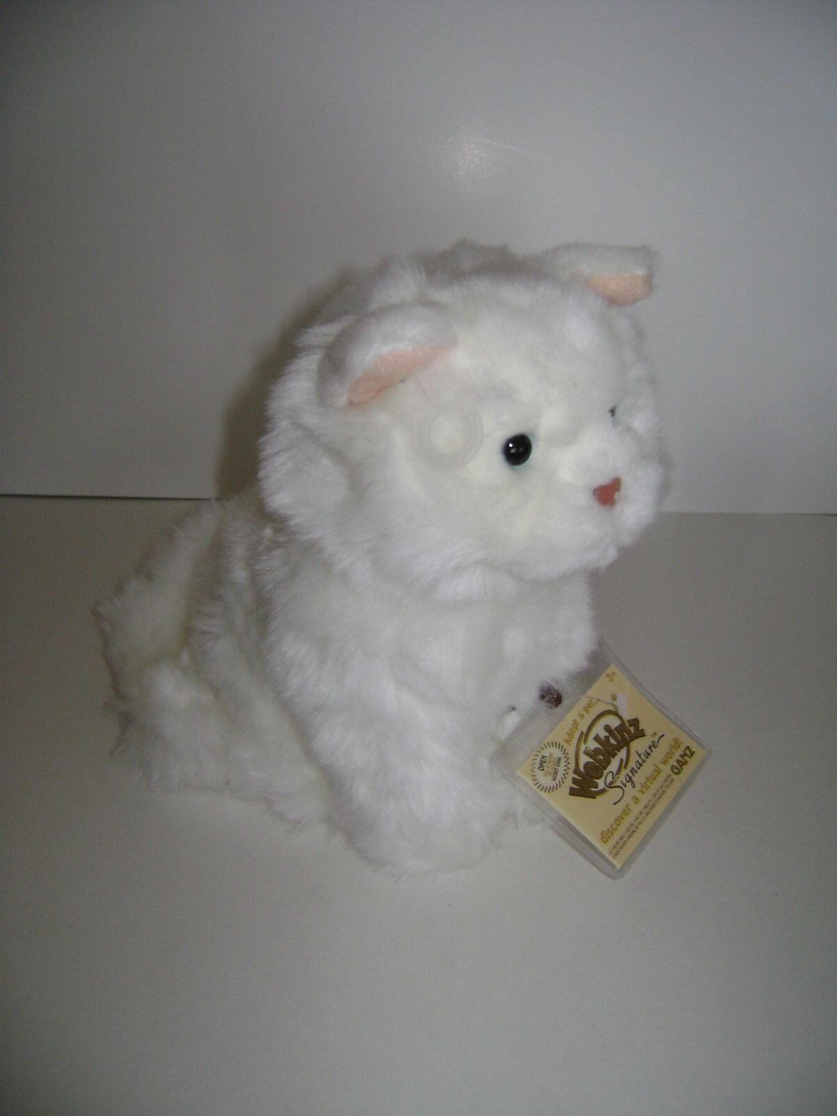 Webkinz Signature Weiß PERSIAN CAT  WKSS2003 GANZ  PLUSH STUFFED KITTY NEW CODE