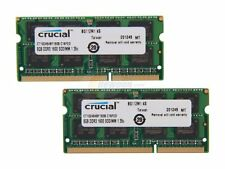16GB kit ( 8GB x 2 ) Crucial DDR3 PC3L-12800 Unbuffered NON-ECC 1.35V Laptop RAM