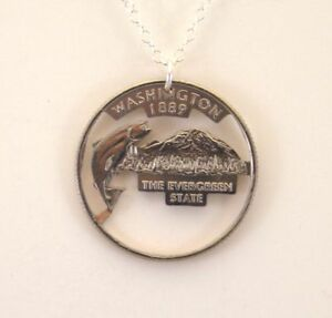 Publications & Supplies Washington State Cut-out Coin Jewelry/pendent To Win A High Admiration